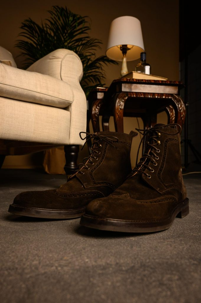 Pair of suede boots