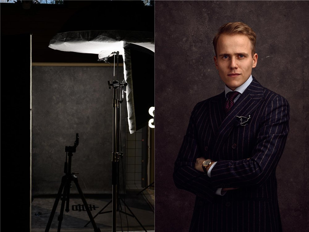 Lighting setup for professional headshot